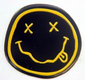 Nirvana - 'Smiley Logo' Small Metal Sticker